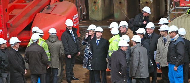 François Hollande sur le chantier de STX