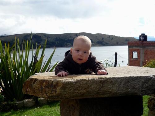 Overlooking Lake Titicaca