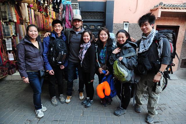So we ran into Gerard Butler in Marrakech...