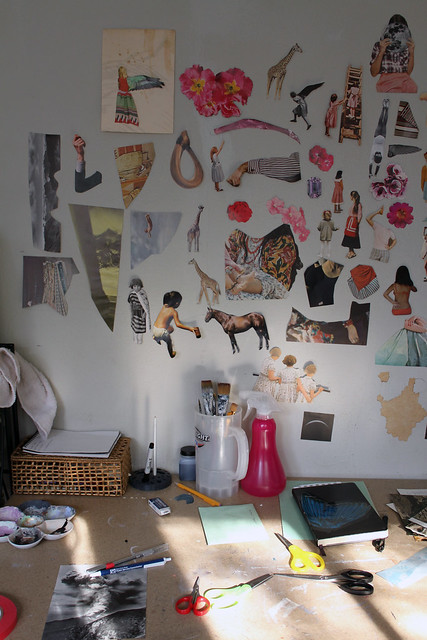 Beth Hoeckel studio visit - Wall/Desk