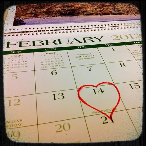 Valentine's Day 2012 Calendar