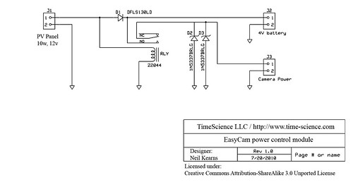 TimeScience EasyCam power controller schematic