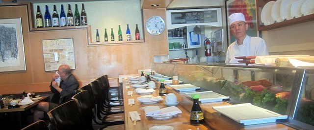 sushi bar at matsuhisa