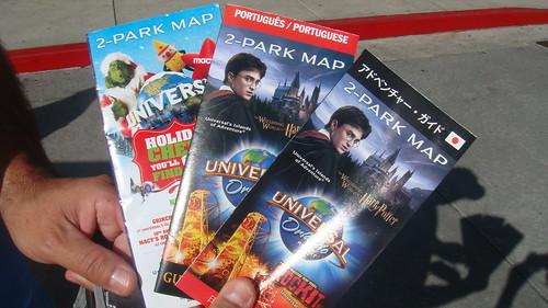 Mapinhas ♥ Inglês, português e japonês - Universal Studios (Orlando)
