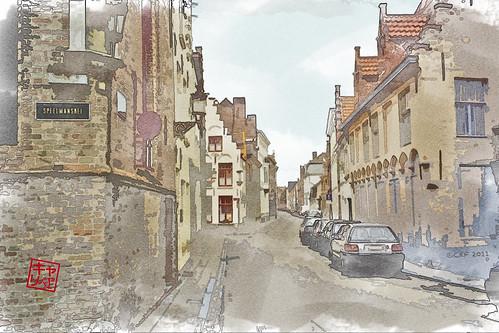 Brugge Watercolor
