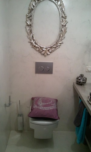 Visión de conjunto WC y marco de espejo