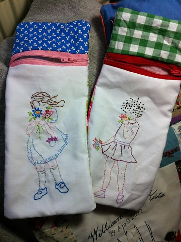 Summer flowers pencil cases