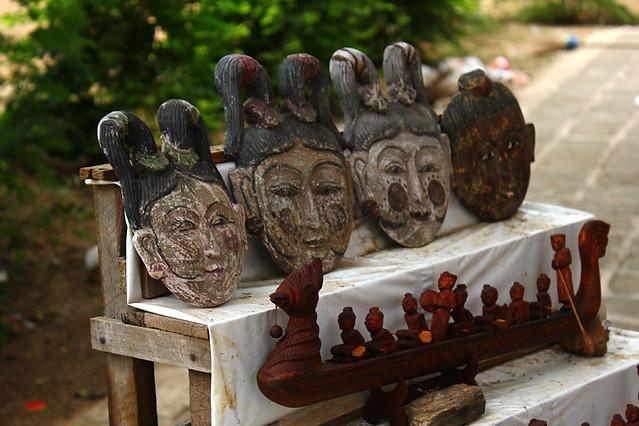 Wood carvings - Bagan