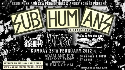 Subhumans 26th Feb 2012 Birmingham