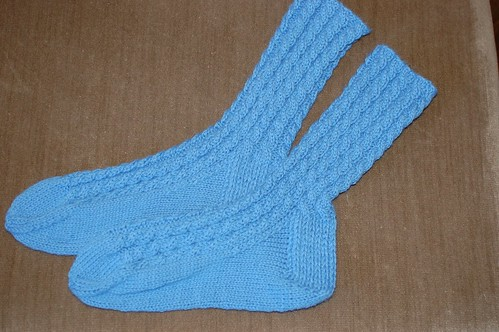 Cabled Socks - Aunt Sharon (1/12)