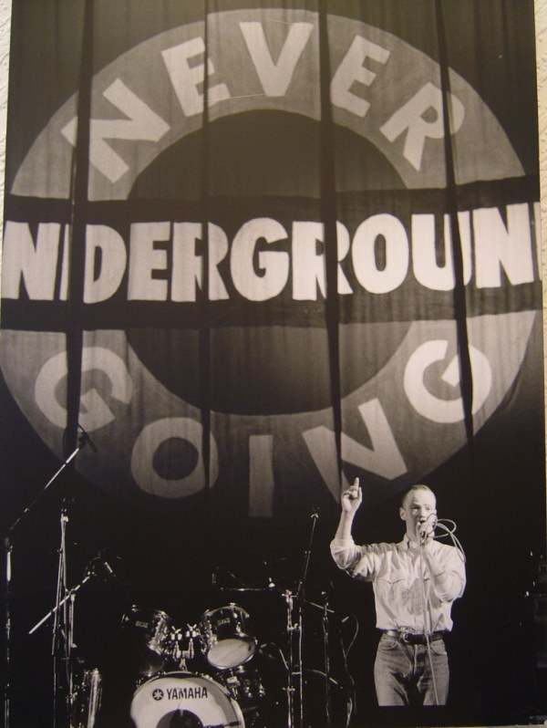 Never Going Underground concert, Feb 1988
