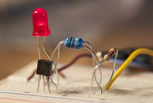 Joule Thief breadboard