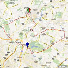 09. Bike Route Map. Princeton NJ