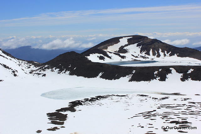Snow on the Tongariro Crossing