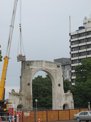 Working on the Bridge of Remembrance