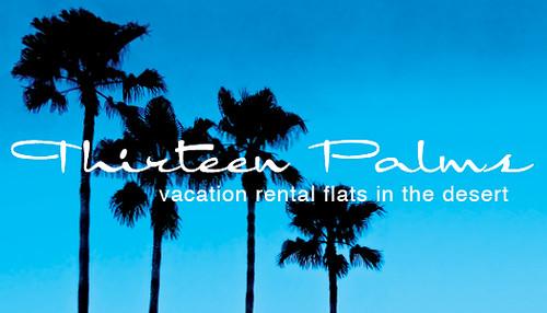 thirteen palms business card, front