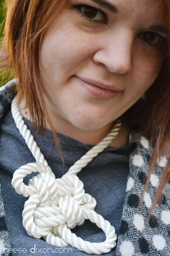 Knot Rope Necklace Closeup