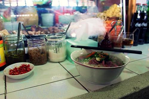 Cambodian market food