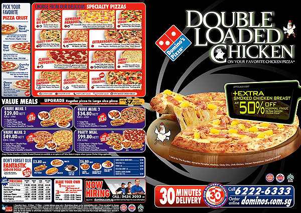 Domino's Double Loaded Chicken Pizza Promotion