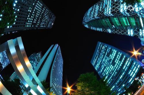 Towering Towers, Shinjuku, Tokyo by hidesax