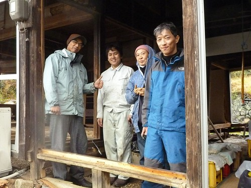 歌津伊里前, 宮城県南三陸町で瓦礫撤去ボランティア(レーベン号) Volunteer at Minamisanrikucho, Miyagi pref. Entire town destroyed by the tsunami of Great East Japan Earthquake