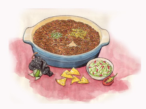 Chili con Carne Illustration