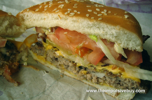 Jack in the Box BLT Cheeseburger Closeup