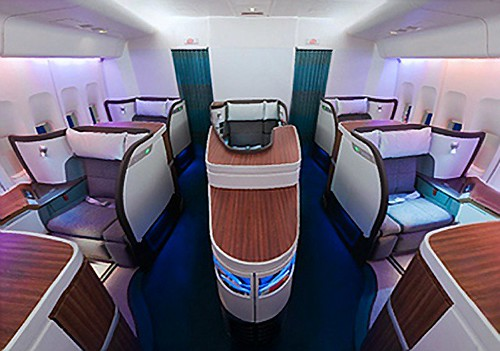 View of B747 First Class Cabin from up front by bloompy