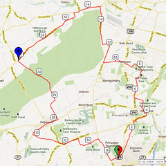 18. Bike Route Map. Princeton NJ