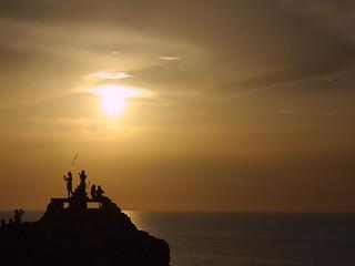 Puesta de sol en Punta Nati