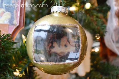 Glass Decoupage Ornament
