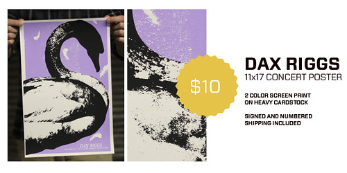 Dax Riggs Concert Poster - On Sale NOW