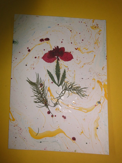 Dried Flower New year Card 1