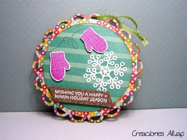 trasera adorno navidad - back christmas ornament