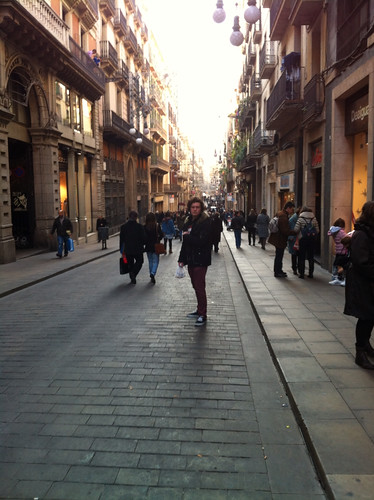 Eamon in the gothic quarter