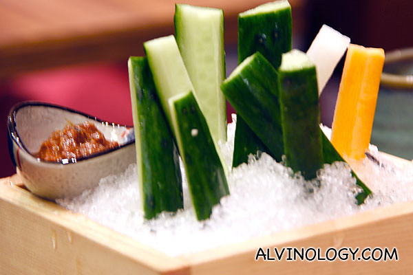 Crunchy cucumber sticks