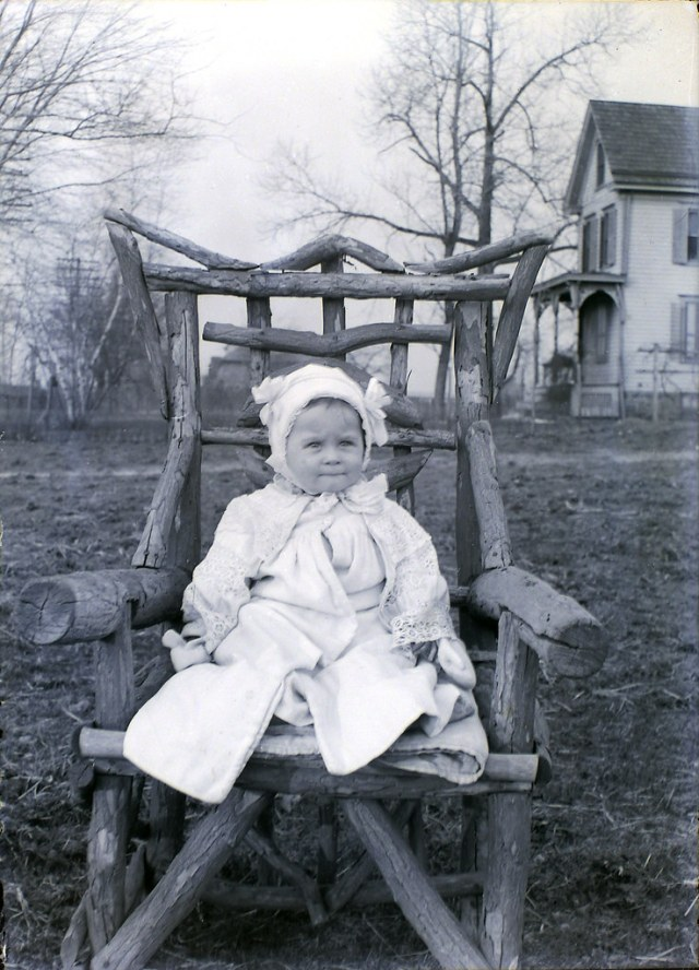 Baby in a Lodgepole Chair
