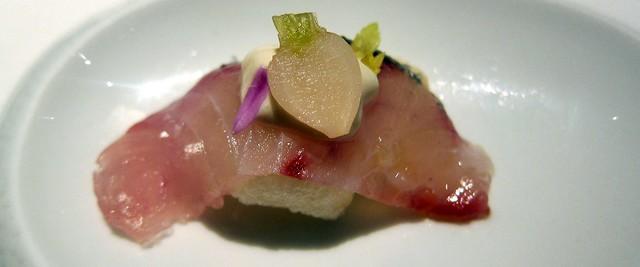 crispy shima aji sashimi at saam