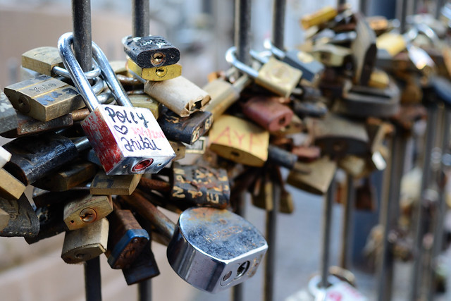 Love locks in Uruguay