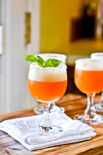 Peach Champagne Cocktails 9