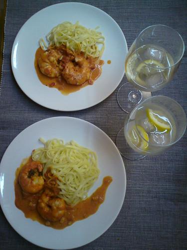 Gamberi alla Veneziana con taglierini by the real Caffeamore