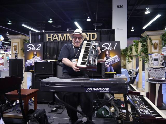 Jon Hammond NAMM 2012 Hammond Suzuki Sk1 Stand 5100