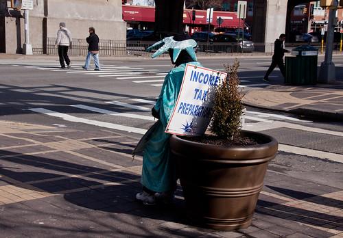 Sad Tax Man - Sunnyside, Queens NYC