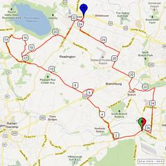 08. Bike Route Map. Somerset Valley YMCA, Hillsborough, NJ