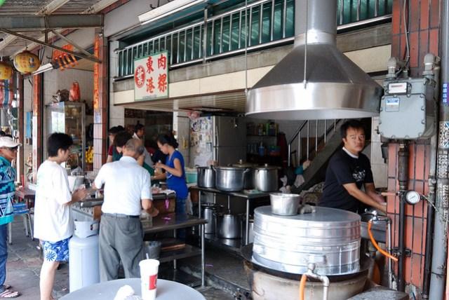 肉粿是東港小吃,甜甜的很特別