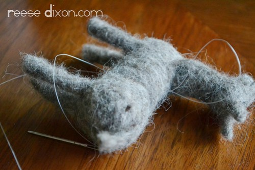 Needlefelted Donkey Tutorial Step 14