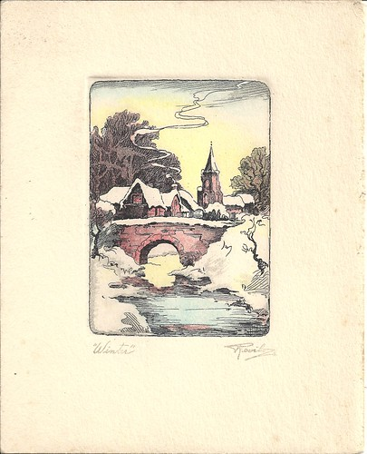 Christmas card from 1920s