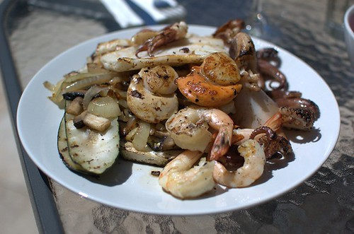 Grilled veggies & seafood