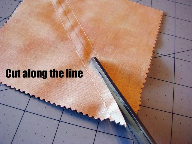 Half Square Triangle Tutorial: Cut Along the Line