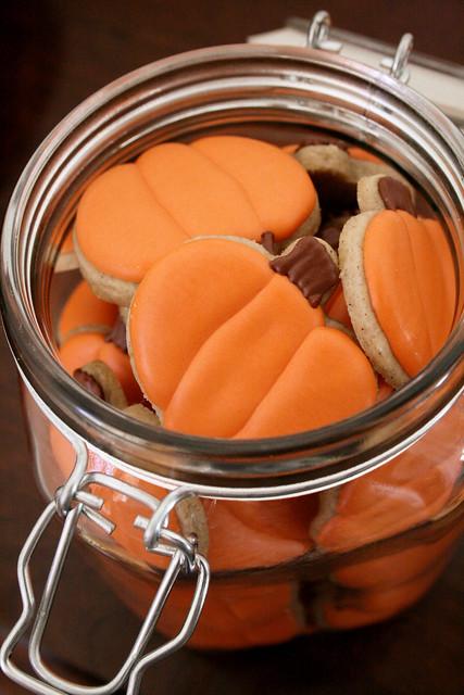 Mini Pumpkin cookies.